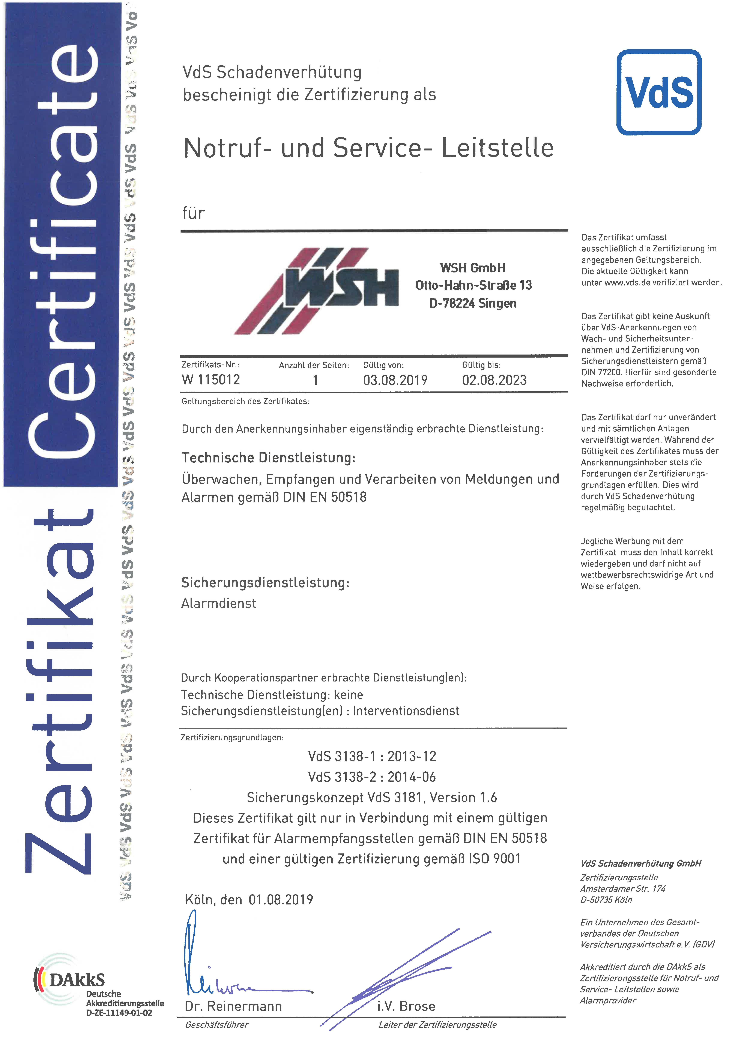 NSL-Zertifikat